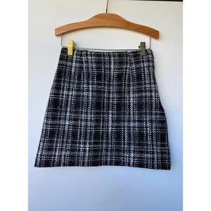 Small, PAZZO, high waisted plaid tweed mini skirt
